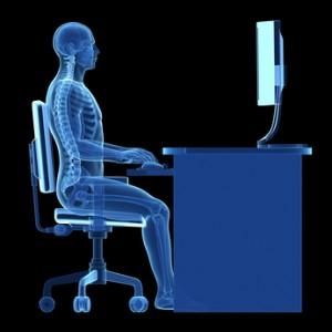 proper ergonomic desk posture